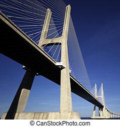 puente, debajo, vasco, gama, da