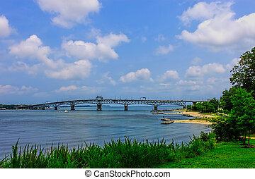 puente, el pasar por alto, verano, chesapeake, yorktown, ...