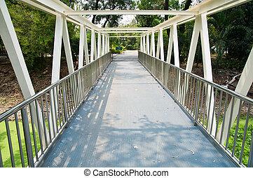 puente, en, el, tailandia, parque
