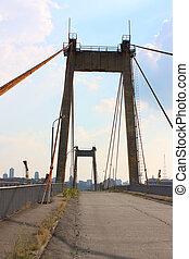 puente, en, industrial, parte de, kiev