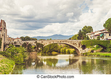 puente, en, prato, italia
