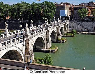 puente, en, roma
