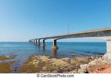 puente, encima, northumberland, estrecho, confederación