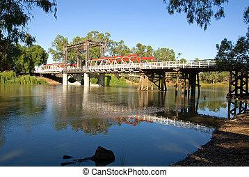 puente, encima, río, murray