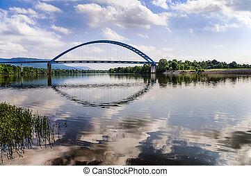 puente, encima, tennessee, río