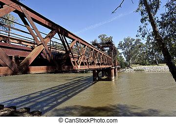 puente, ferrocarril, tocumwal