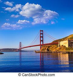 puente, francisco, san, dorado, california, puerta