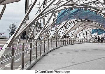 puente, hélice, singapur