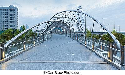 puente, hélice, vista