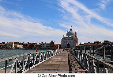 puente, hecho, alcance, largo, calle, peatón, iglesia,...