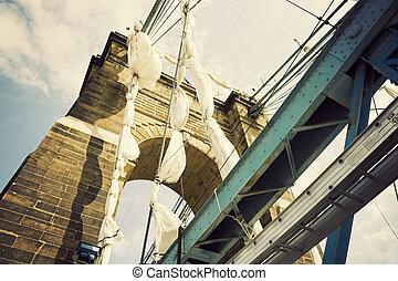 puente, histórico, cincinnati