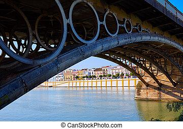 Puente Isabel II bridge in Triana Seville Andalusia - Puente...