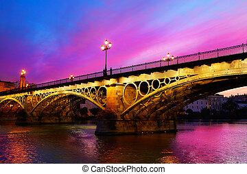 Puente Isabel II bridge Triana Seville Spain - Puente Isabel...