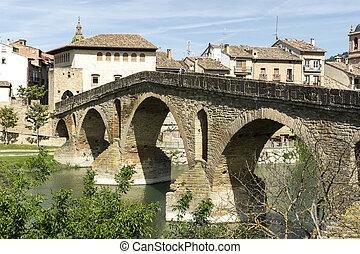 Puente la Reina Bridge. Puente la Reina, Navarra, Spain.