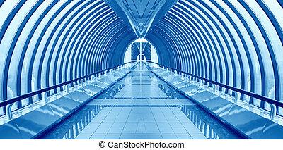 puente, manera, interior, nadie