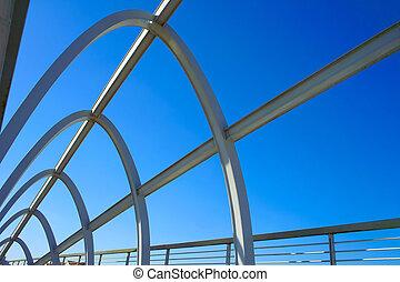 puente, moderno, estructura