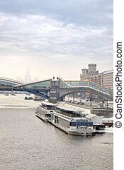Puente, moscú, río, a través de