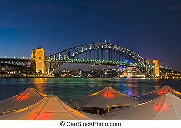 puente, muelle, -, puerto, sydney, circular