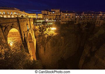 Puente Nuevo and El Tajo Gorge in Ronda. Ronda, Andalusia, Spain.