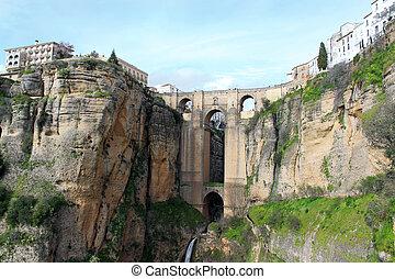 Puente Nuevo bridge, in Ronda, Spain