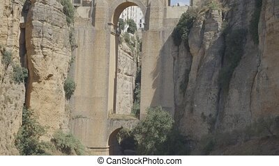 Puente Nuevo bridge, the main landmark of city of Ronda,...