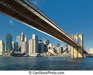 puente, nuevo, brooklyn, york, estados unidos de américa