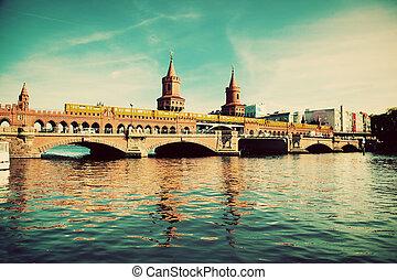 puente, oberbaum, alemania, berlín