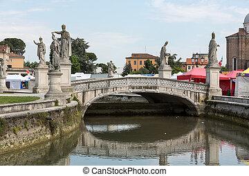 puente, plaza, prato, italy., valle, padua, della