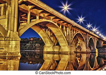 puente, por la noche