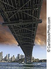 puente, puerto de sydney, debajo