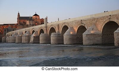 Roman bridge in Cordoba, Spain - Puente Romano - Roman...