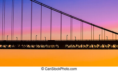 puente, silueta