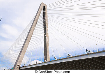 Puente, tonelero, encima, Jr, Arthur, Charleston, río,...