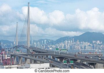 puente, tráfico