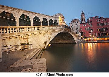 puente, venecia, -, rialto