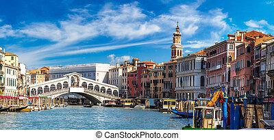 puente, venecia, rialto, góndola