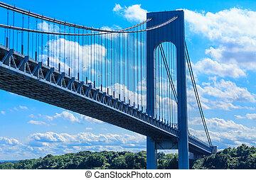 puente verrazano, y, cielo