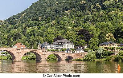 puente viejo, en, heidelberg, -, alemania