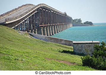 puente, viejo, florida, enero, llaves, 2007