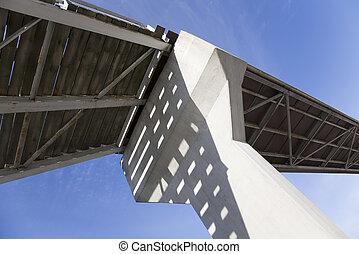 puente, y, cielo