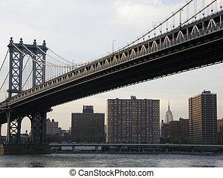 puente, york, nuevo, ciudad