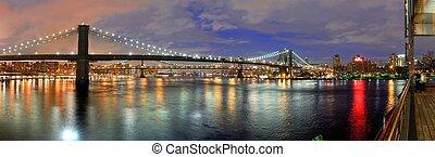 puentes, ciudad, york, nuevo