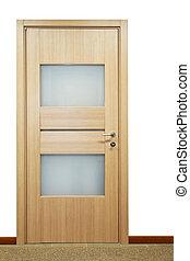 puerta, 2, vidrio