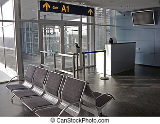 puerta, aeropuerto