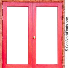 puerta, bambú, jamb