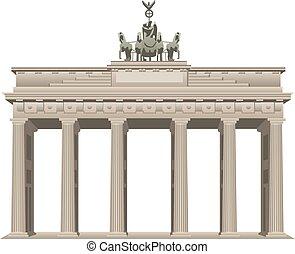 puerta, berlín, brandenburg