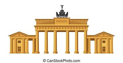 puerta, brandenburg, berlin.