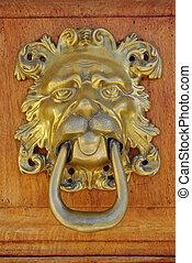 puerta, bronce