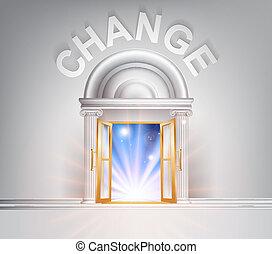 puerta, cambio