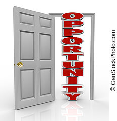 puerta, chances, crecimiento, golpes, nuevo, oportunidad,...